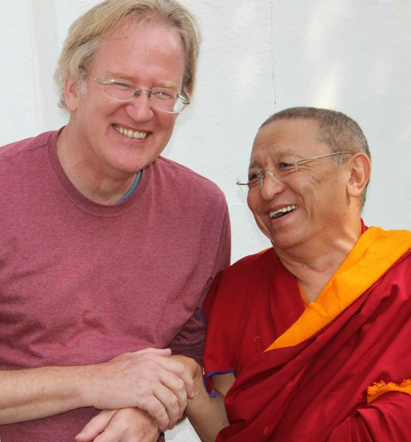 Greg Whiteside with Chokyi Nyima Rinpoche